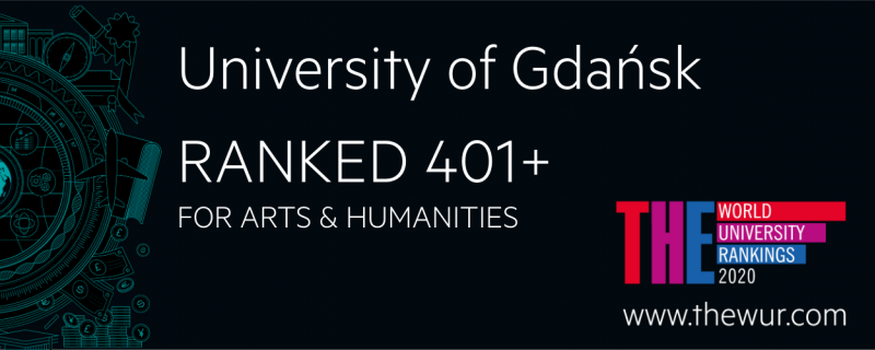 World University Rankings 2020 by subject: social sciences – University of Gdańsk ranked 601+